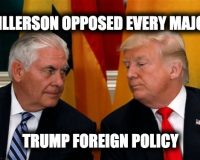 No Shock From Nikki Haley:  Rex Tillerson Opposed Most Major Trump Foreign Policies