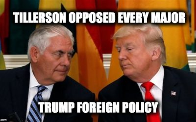 Nikki Haley Revelations Not Shocking-Tillerson Publicly Opposed Most Trump Foreign Policy