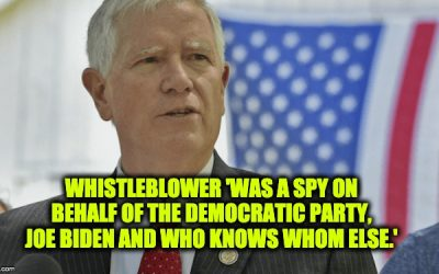 Rep. Mo Brooks: 'Whistleblower' A Spy Acting On Behalf Of The Dems And Joe Biden