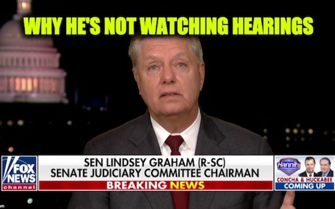 Lindsey Graham Not Watching Impeachment Hearings, 'It's Un-American'