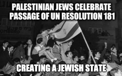 72 Years Ago Today, The UN Partitioned Palestine Creating Jewish And Arab States