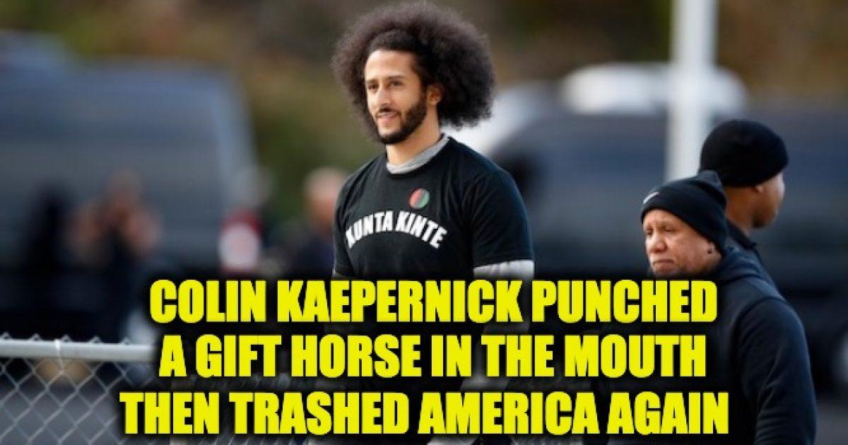 Colin Kaepernick Trashes America