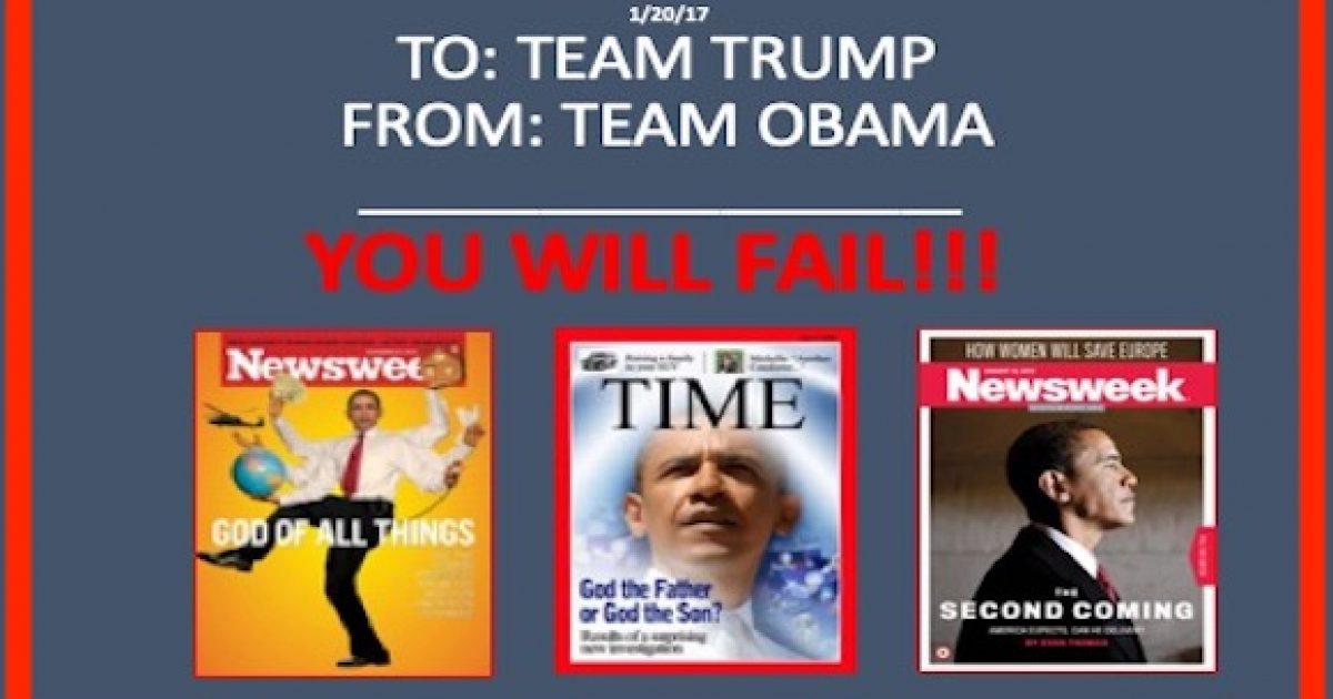 Obama team left notes