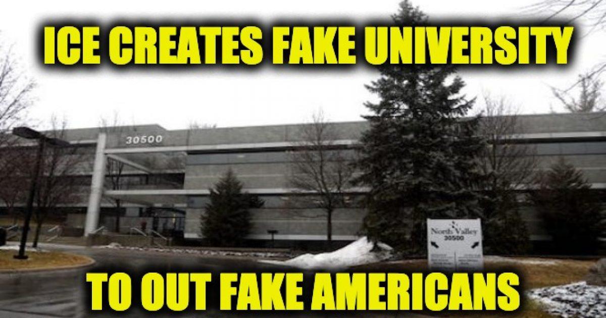 fake ICE university