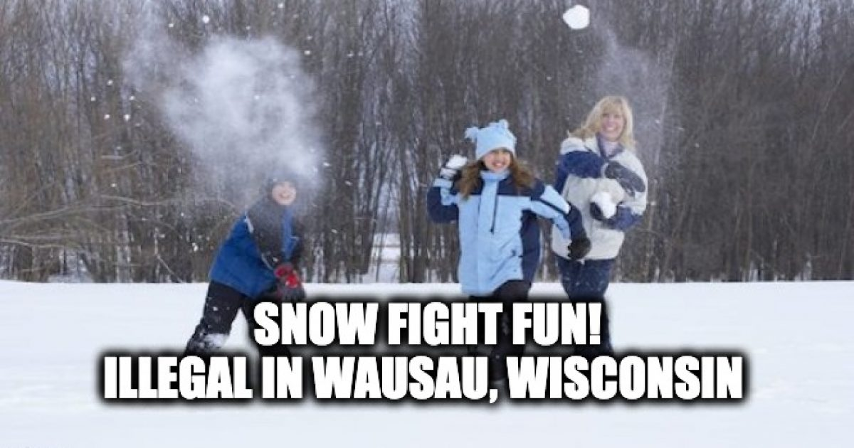 Wausau banned throwing snowballs