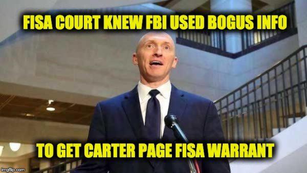 Carter Page warrant falsehoods