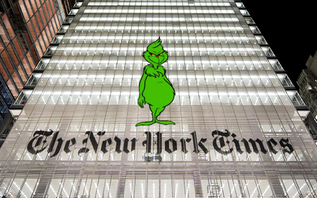 NY Times Is The Grinch Who Tried To Steal Trump's Historic Antisemitism Executive Order