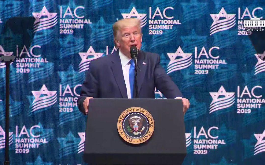 Leftists Freak As Trump Explains Accomplishments To Israeli American Council