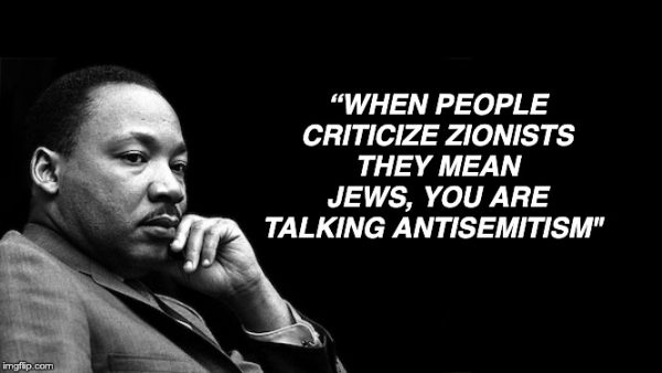 Dr King was a Zionist