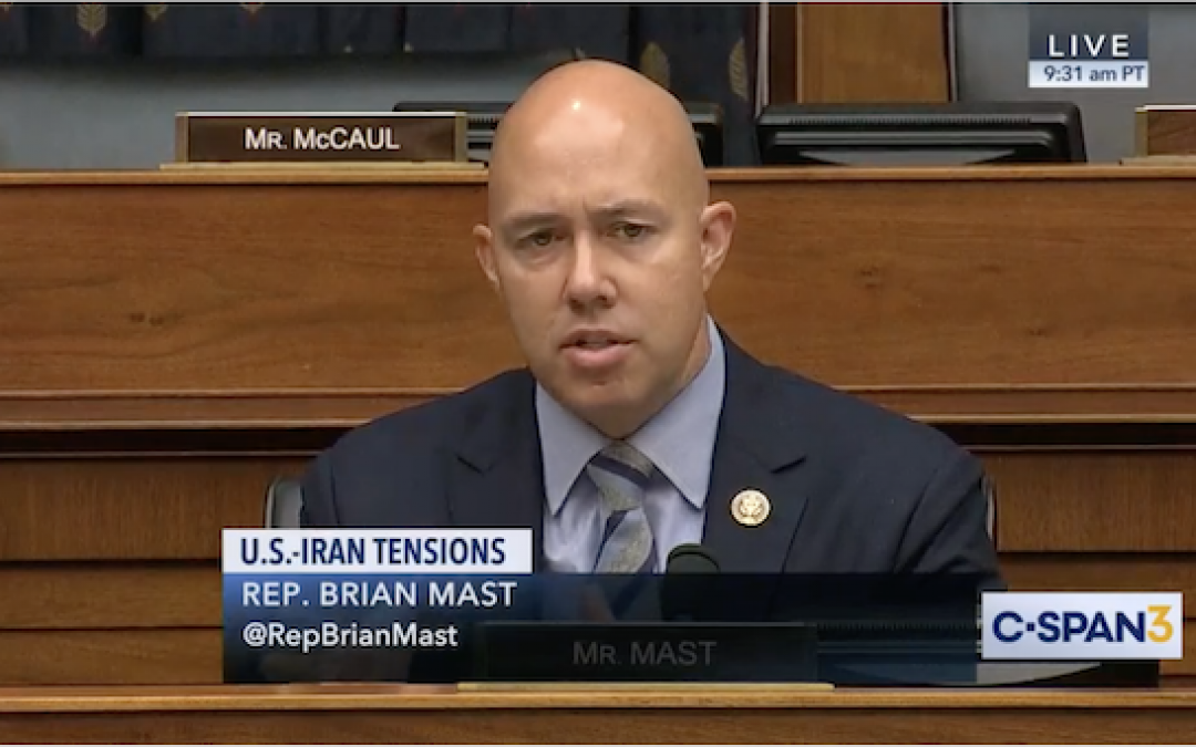 Must Watch Video: GOP Rep. Mast Eviscerates Dems Objecting To Soleimani Killing By Asking A Question