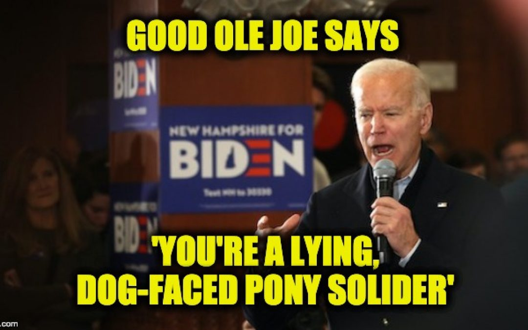 Biden Calls New Hampshire Voter 'A Lying, Dog-Faced Pony Soldier'