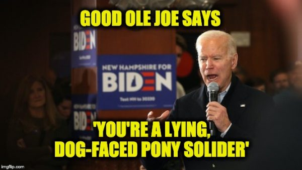 lying dog-faced pony soldier
