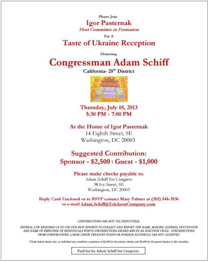 shady Schiff Ukraine connection