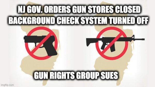 NJ CoronaVirus gun ban