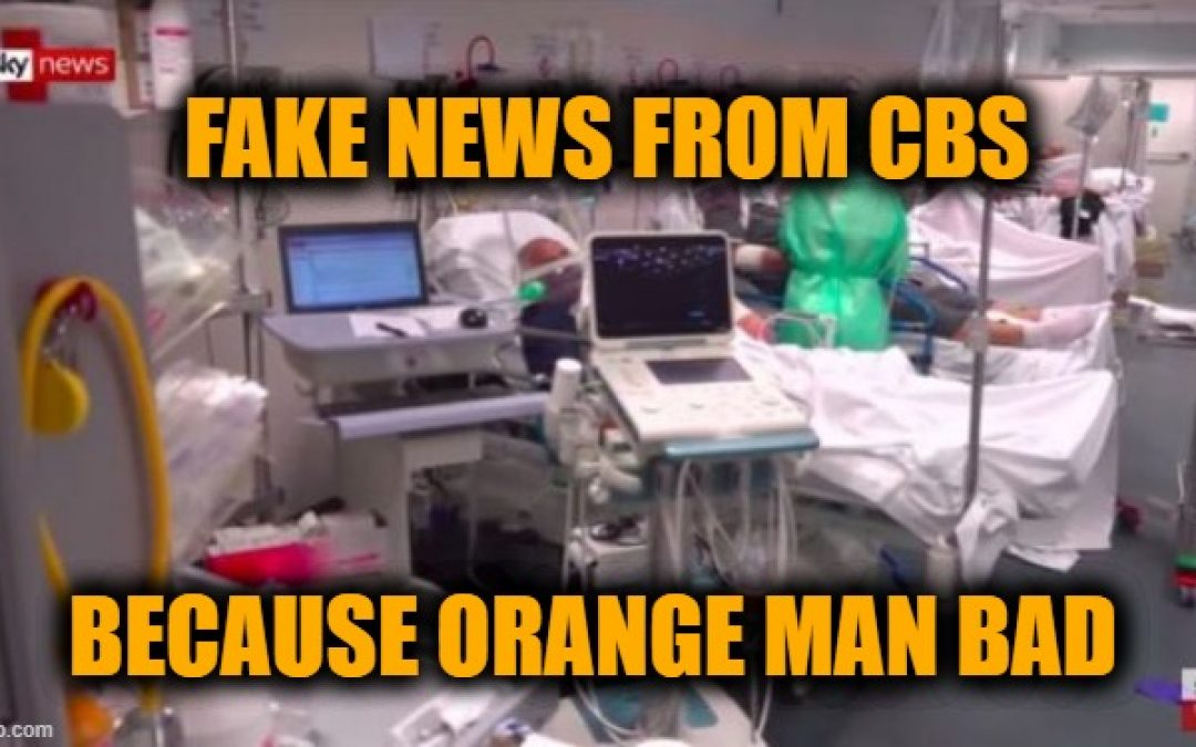 CBS Fake News: Uses Footage Of Italian Emergency Room To Show Conditions In New York