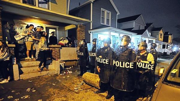 dayton students riot