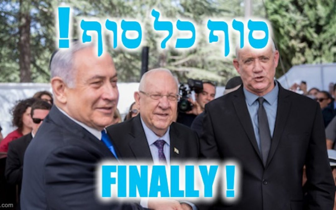 FINALLY! Netanyahu And Ganz Sign Israel Govt. Unity Deal