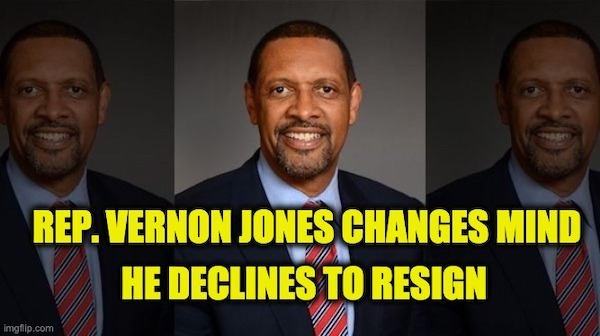 Vernon Jones changes mind