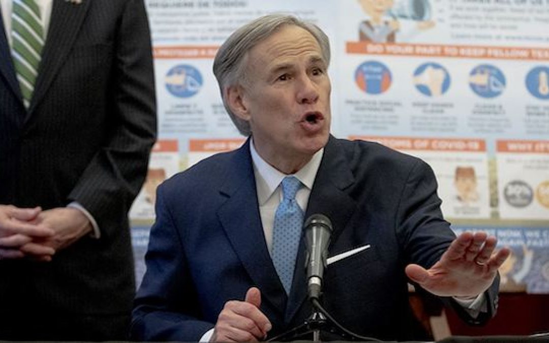 Texas Governor Abbott Issues Order Designating Religious Services As 'Essential'