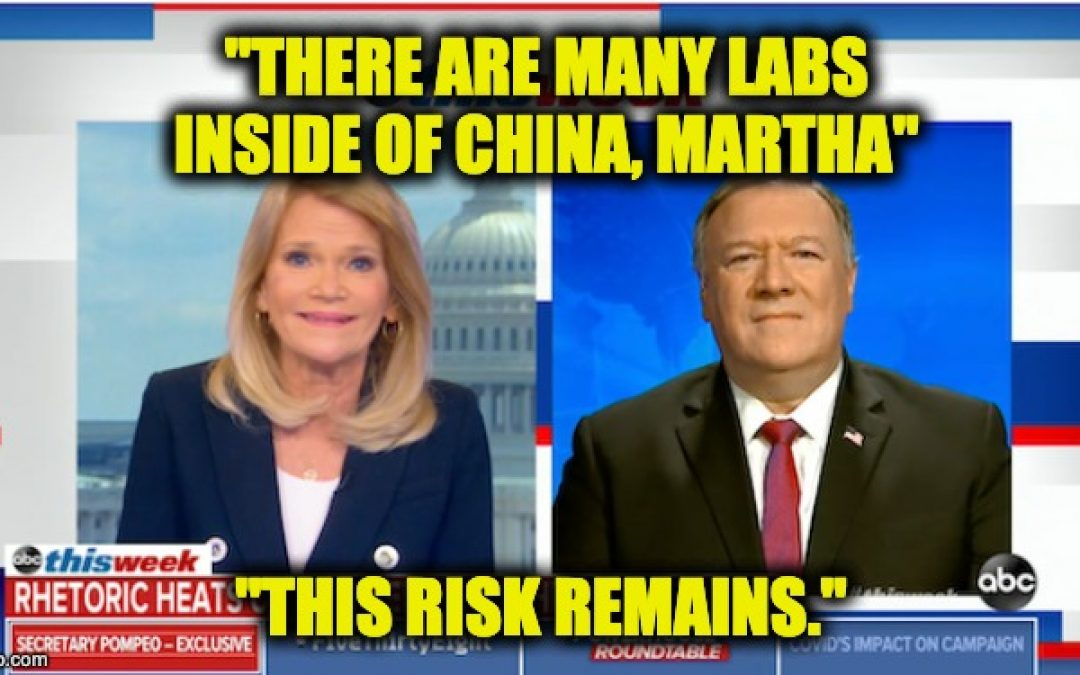 Pompeo Says Enormous Evidence Covid Came From Wuhan Lab