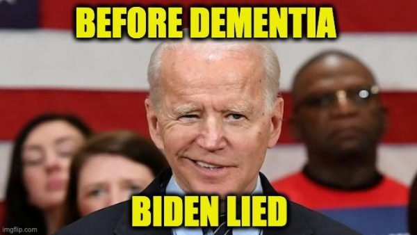 Biden lied