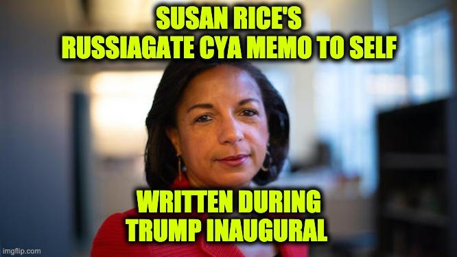 Susan Rice memo to herself