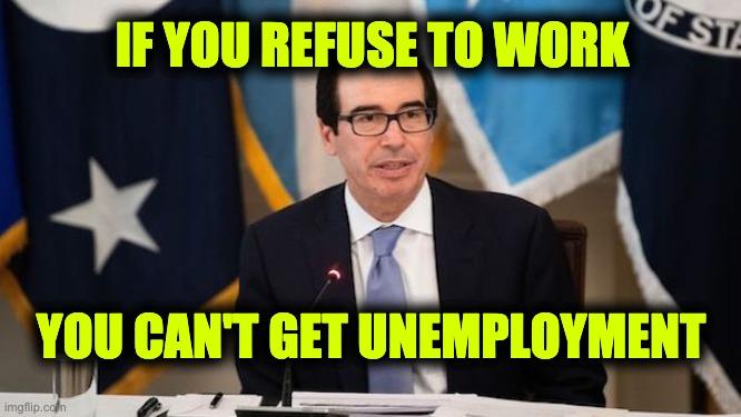 Mnuchin unemployment benefits