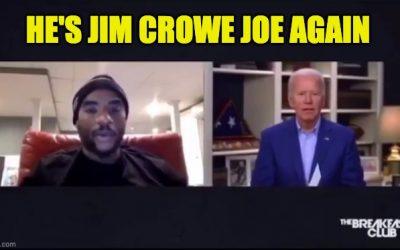 "Joe Biden Is Jim Crow Joe Again: Says Black Trump Supporters ""Ain't Black"""