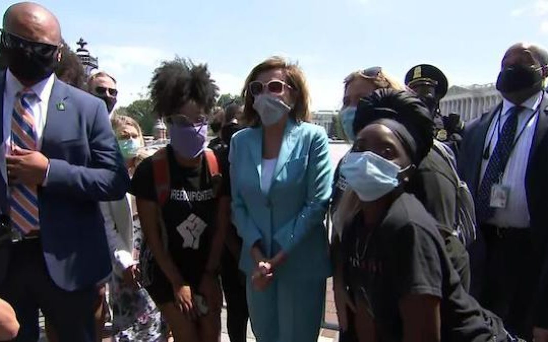 If Pelosi Thought D.C. Protests Were 'Peaceful' Why Did She Need So Many Security Guards? (Video)