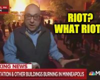 Watch MSNBC's Ali Veshi Say Minneapolis 'Protesters' Not 'Unruly, While Standing In Front of a Burning Building