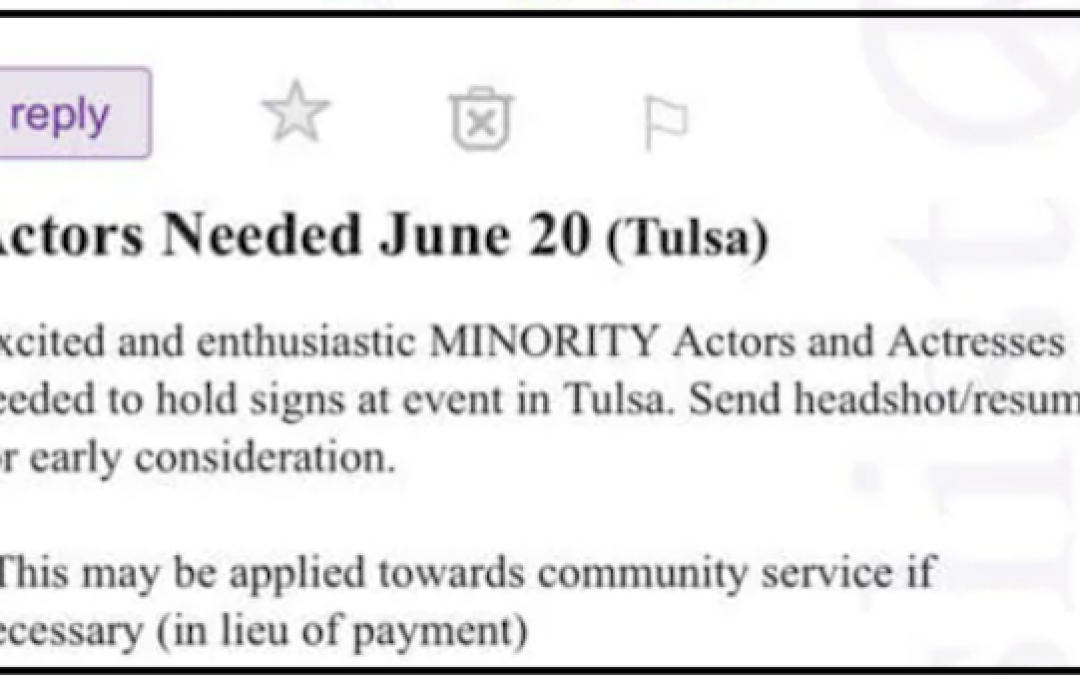 Fake Ads Offer To Hire Minority Actors to Hold Signs At Trump's Tulsa Rally