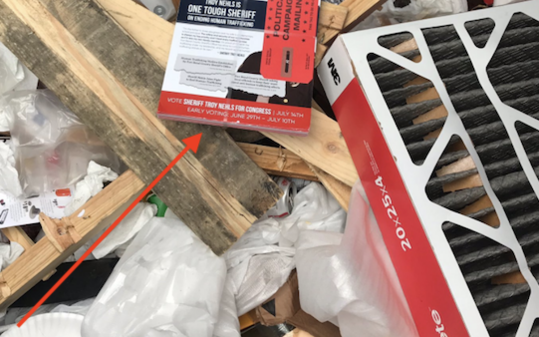 CAUGHT: GOP House Candidate's Mailers Get Tossed Into Dumpster By Postal Worker