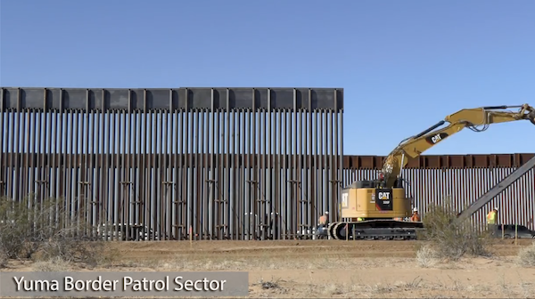 Pandemic defense Trump's wall