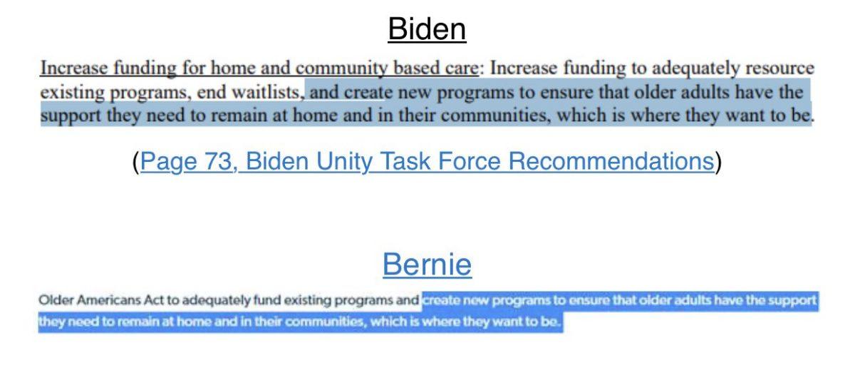Bernie likes Biden agenda