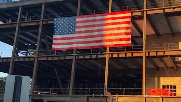Virginia ordered American flag removed