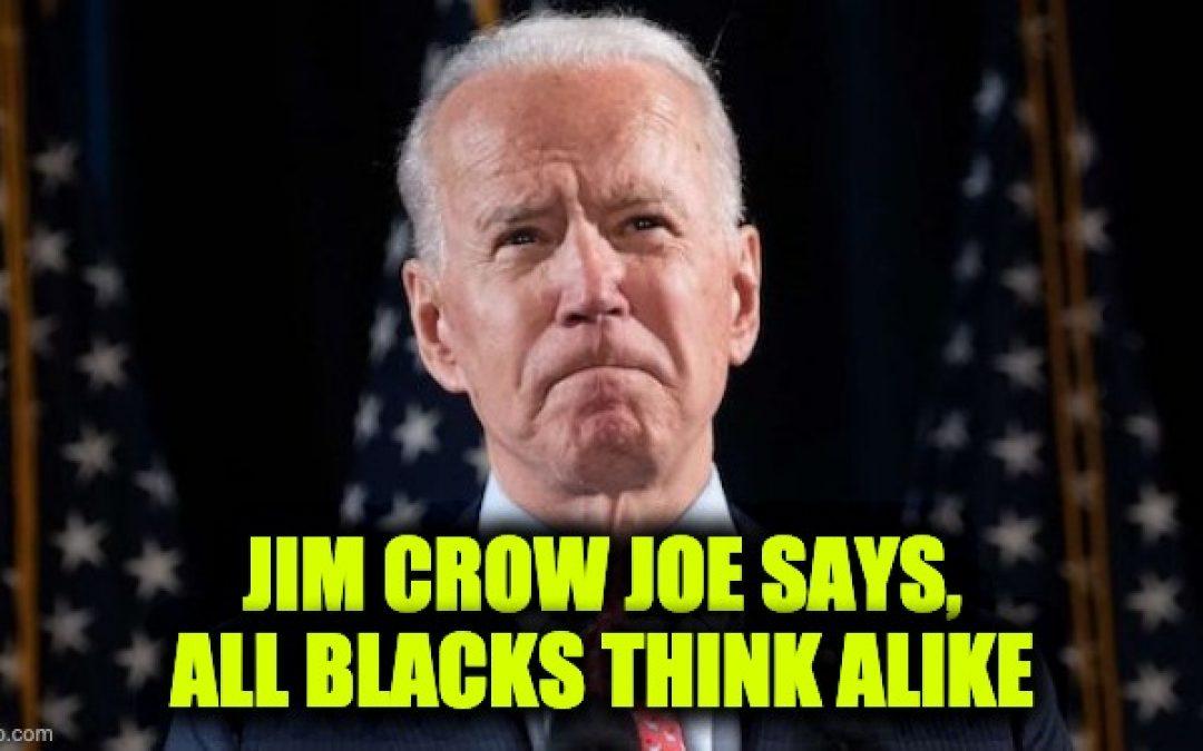 Joe Biden Says All Blacks Think Alike