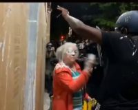Rioters Charge Into Portland Suburb- Use Paint To Try And Intimidate Old Ladies
