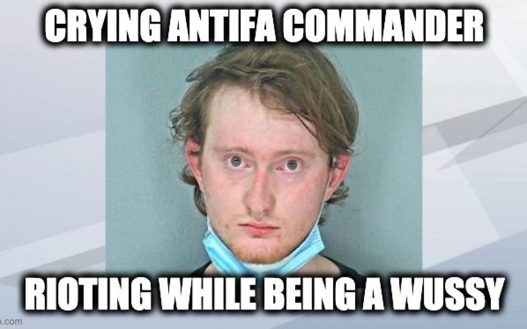 Antifa 'Commander' Armed With Flamethrower Burst Into Tears During Arrest