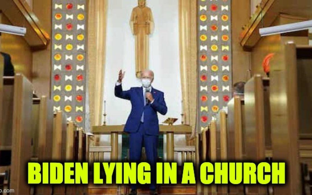 Lyin' Joe Biden Lies In Kenosha Church, Spreads False Charlottesville 'Fine People' Hoax