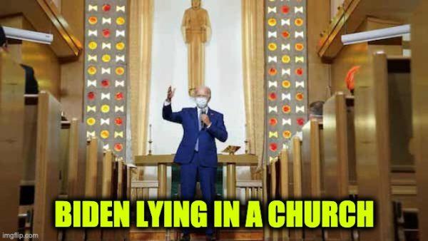 Biden Lies In Kenosha Church