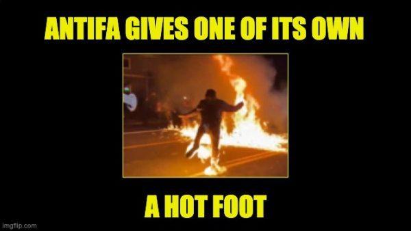 Antifa hot foot