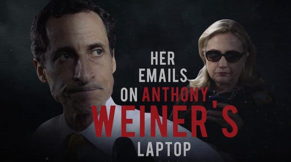 Hillary emails on Weiner laptop