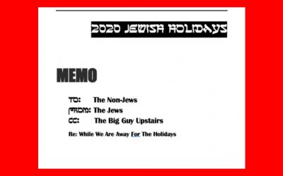 To The Non-Jews From The Jews An IMPORTANT Message About The High Holidays