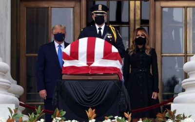 Classless Liberals: POTUS and FLOTUS Booed And Harassed As They Paid Respects To RBG
