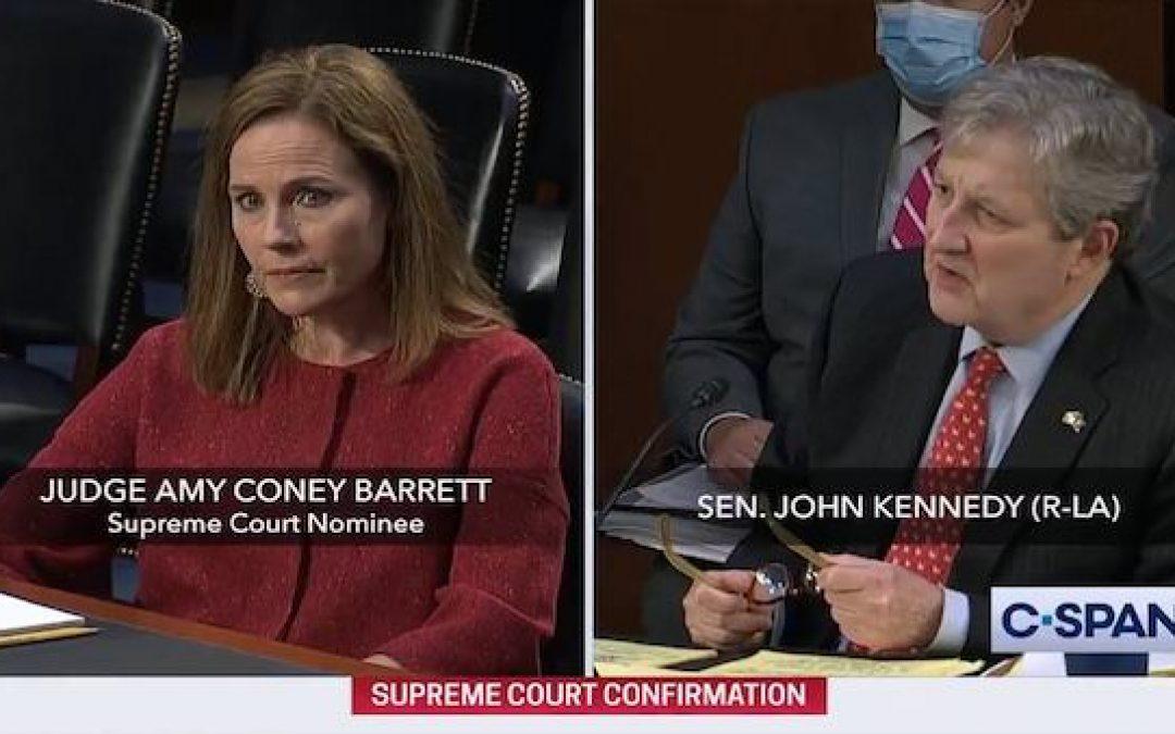 Sen. Kennedy (R-LA)  Mocks Democrats' Questioning Of Judge Barrett (Video)
