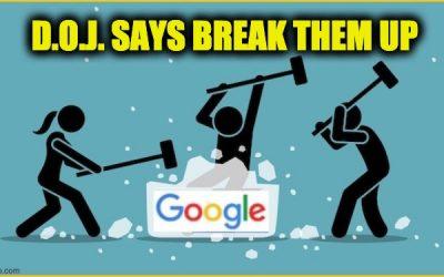 DOJ break up google