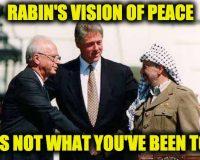 On His Yartzeit, Know That Yitzhak Rabin Wasn't A Blind Peacemaker As Libs Describe