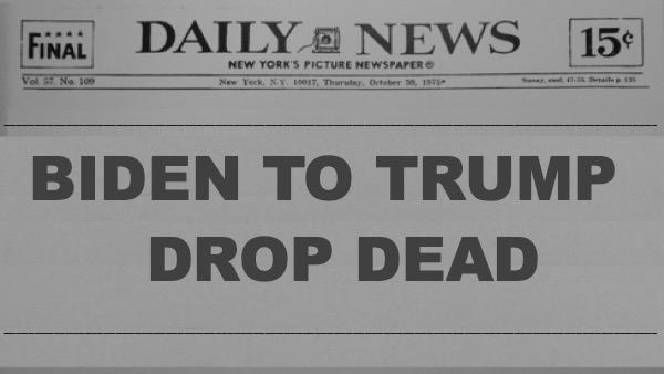 Biden fantasizes Trump death