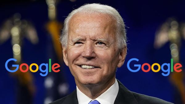 Google favors joe Biden