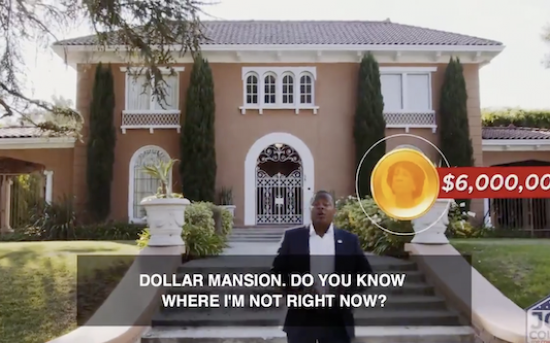 "Maxine Waters Opponent ""Destroys"" Her In Ad Filmed Outside Her Mansion"